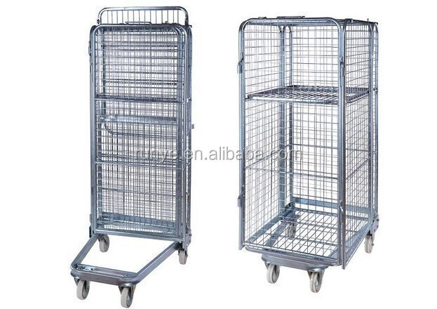 Nest Away Folding Truck Rolling Cage Pallet Steel Logistic Trolley for sales(manufacturer)