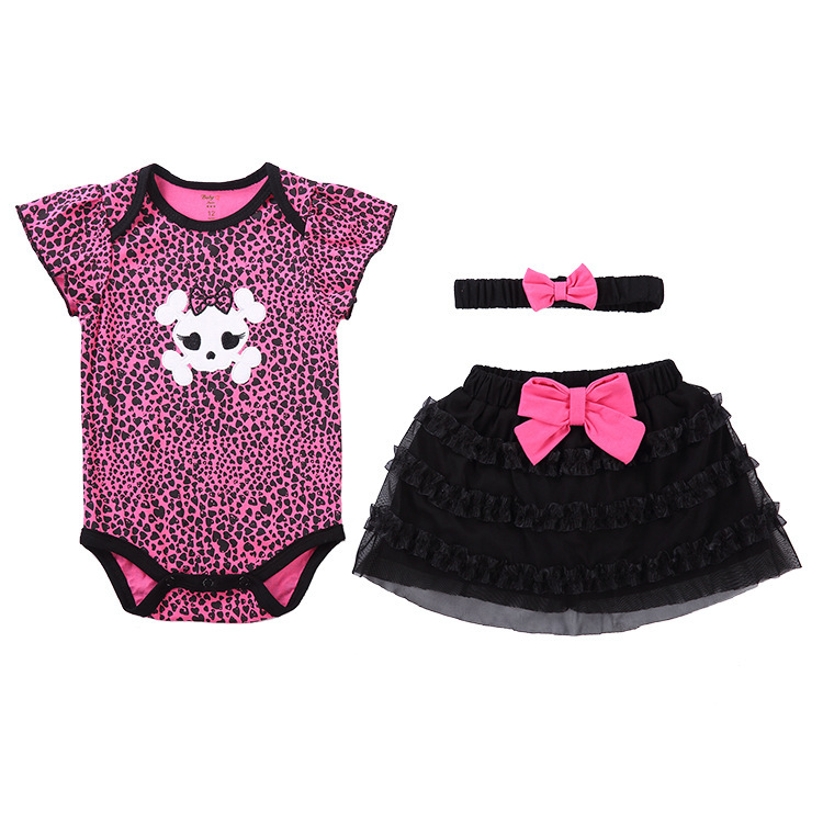 dd8e1f9ffc09 Get Quotations · Cotton infant clothing baby Romper Ha skirt suit trade  jumpsuit spot baby girl clothes