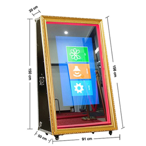 65 inch make your own cheap selfie magic mirror photo booth price with 50 inch LED screen for sale