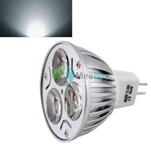 MiniDeal  Ultra Bright MR16 6W LED Dimmable Spot Light Downlight Lamp Bulb Pure White