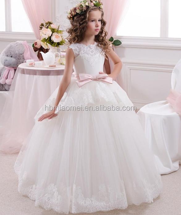 2016 Lovely Wedding Wear Baby Girl Dress Summer Children Girl Dress ...