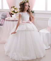 2016 lovely wedding wear baby girl dress summer children girl dress for wedding