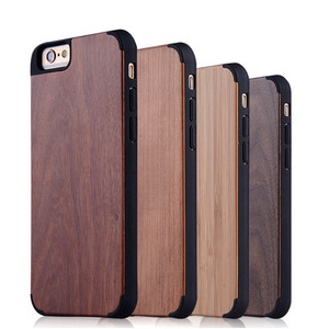 check out 956d4 198aa PC wood newest high quality customize unfinished wood case cover for iphone  6s