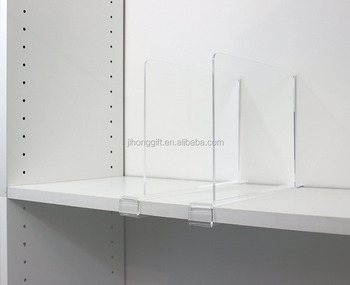 Clear Acrylic Shelf Dividers For Closets