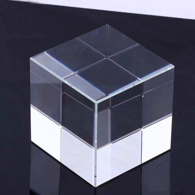 K9 clear blank crystal plaque custom laser engraving crystal cube