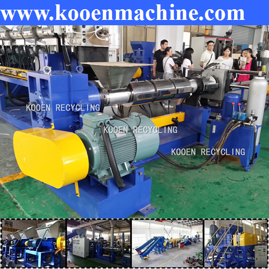 Automatic Waste HDPE hard plastic crushing recycling equipment