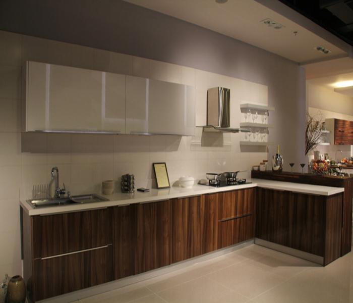 Nieuwe melamine fineer melamine keukenkast deurpaneel aluminium rand voor keuken kast buy - Model amerikaanse keuken ...