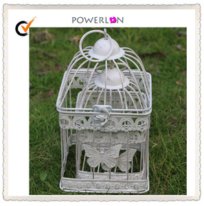Low Price Shabby and Chic Garden Decor Metal Square Bird Cage