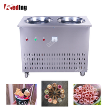 2018 China Factory Supply Thailand ice cream machine fried ice cream, Fried Ice Cream Roll Machine