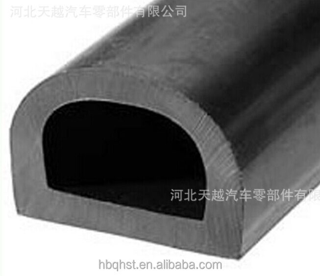 Used universally extruded rubber guard against damp strip/bumper sealing strip