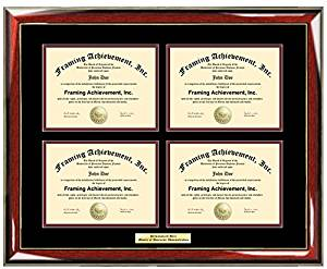 buy engraved four certificate frame 4 professional certification or