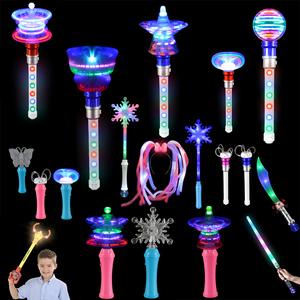 Promotion Star Gift Light Up Toys Spinning Light LED Spinner Wand