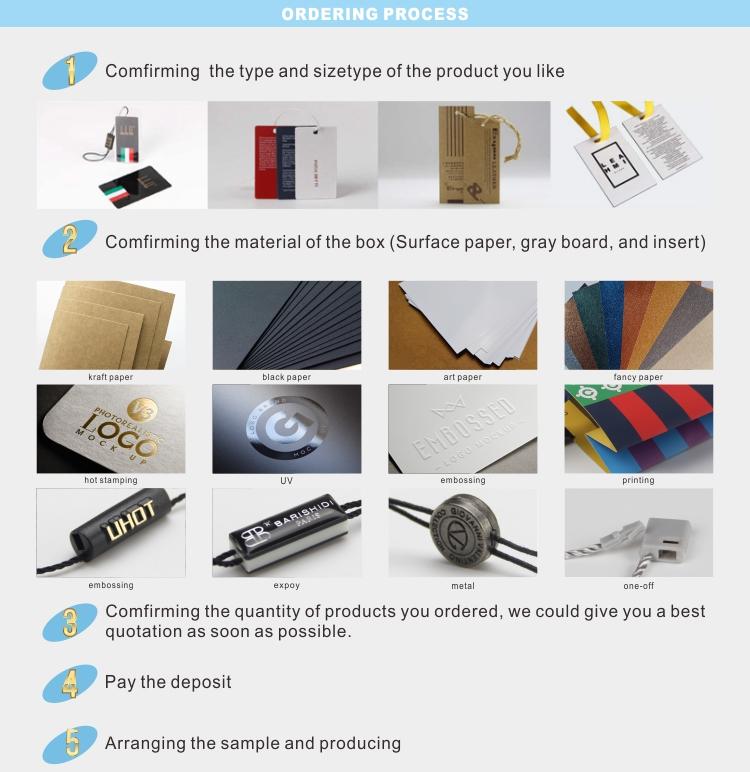 Personnalisé chine noir recyclé vêtements papier étiquette volante avec de la ficelle