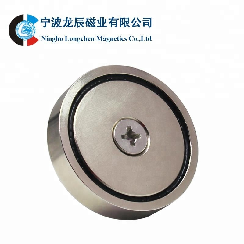 PMC-D75 strong neodymium flat pot magnets with screw hole