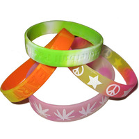 Boce 100% Eco Friendly Mixed colors 2018 free rubber bracelets
