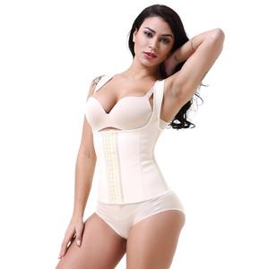 5c621e99b6 Steel Bones Rubber latex Waist Trainer corset 9 Bone Strap Latex Waist  Trainers Latex Vest