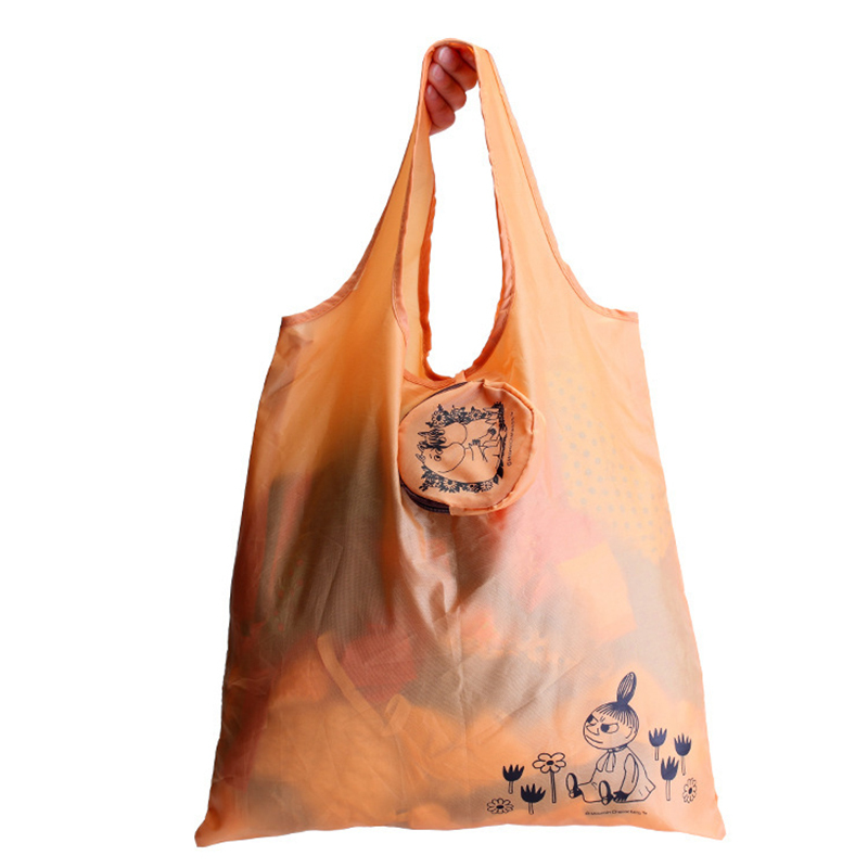 Foldable Bag For Shopping Reusable Waterproof Shopping Bag Women Purses and Handbags Convenient Grocery Orange Tote Bag sac