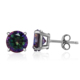 POLIVA Alibaba Supplier Colored Natural Gemstone Crystal 925 Sterling Silver Earring Studs for boys and girls