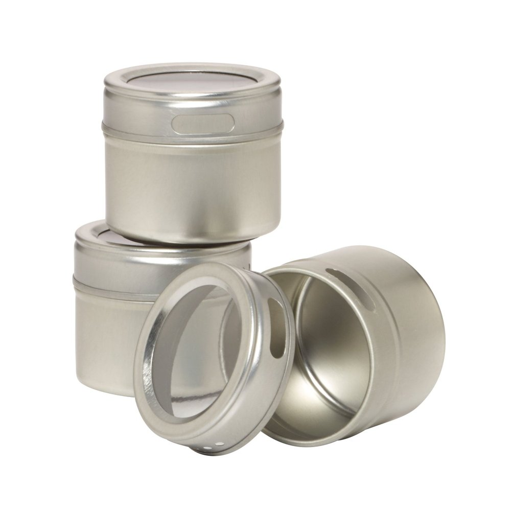 stainless steel magnetic spice jarset of      buy  - stainless steel magnetic spice jar set of