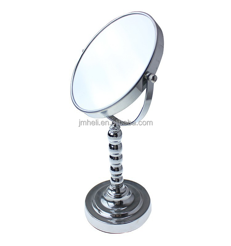 iron decorative Double Side rotating extensible bathroom mirror