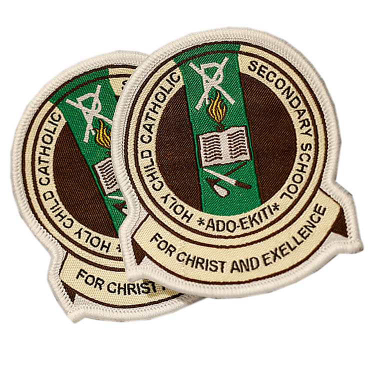 Badge Maker Professional Design Cheap Customized Brand Name Logo Cloth  Woven Badges For Security School Uniform - Buy Custom Badges,Badge  Maker,Logo