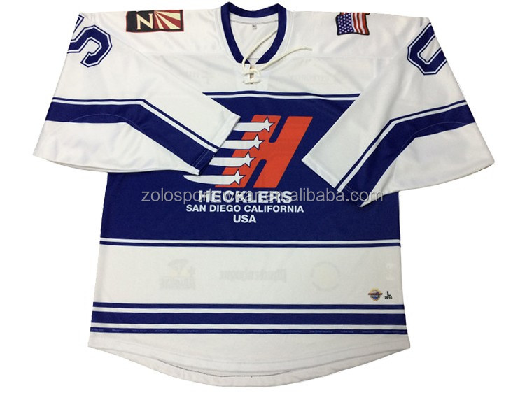 Custom Made Sublimation 6xl Ice Hockey Jersey With Lace Collar - Buy ... 31cff4c8dce