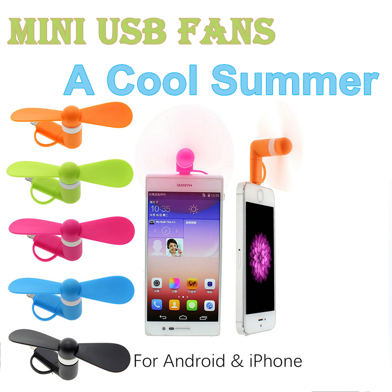 Promotion Gift Custom Mobile Phone Gadget Mini Usb Fan Applicable for Iphone or For Android