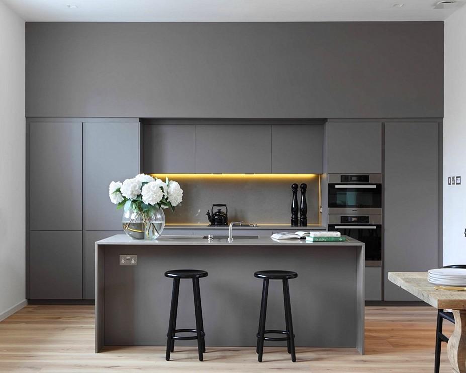 2019 Vermont New I Shape Mix Grey Color Lacquer Kitchen ...