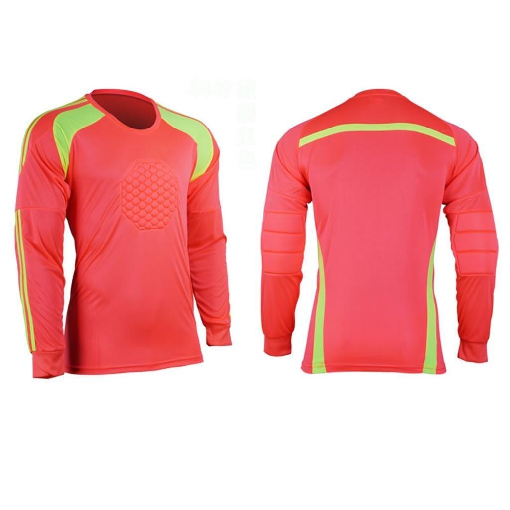 9d91aaf64d7 Get Quotations · COOLOMG Men Soccer Keeper Football Goalkeeper Goalie Foam  Padded Jersey Shirt Tops New