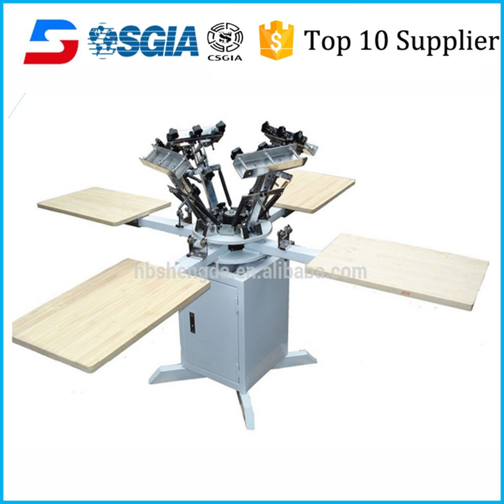 4 colors Silk Screen Printing Machine For Sale/ More Effective For Printing dyeing