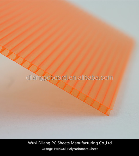 10 Years Clear Plastic Hollow Polycarbonate Sheet for Greenhouses
