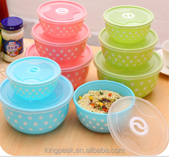 2016 Hot Plastic Mixing Bowls Good Design Salad With Lids Microwave Safe