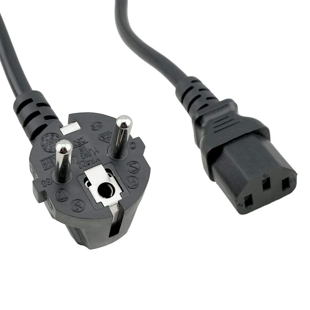 C19 receptacle For 230VAC in Denmark F 8.20ft long Has CEE 7-VII plug for power input and straight M Black - 12 AWG 2.5m HP 8120-6352 Power cord three conductor