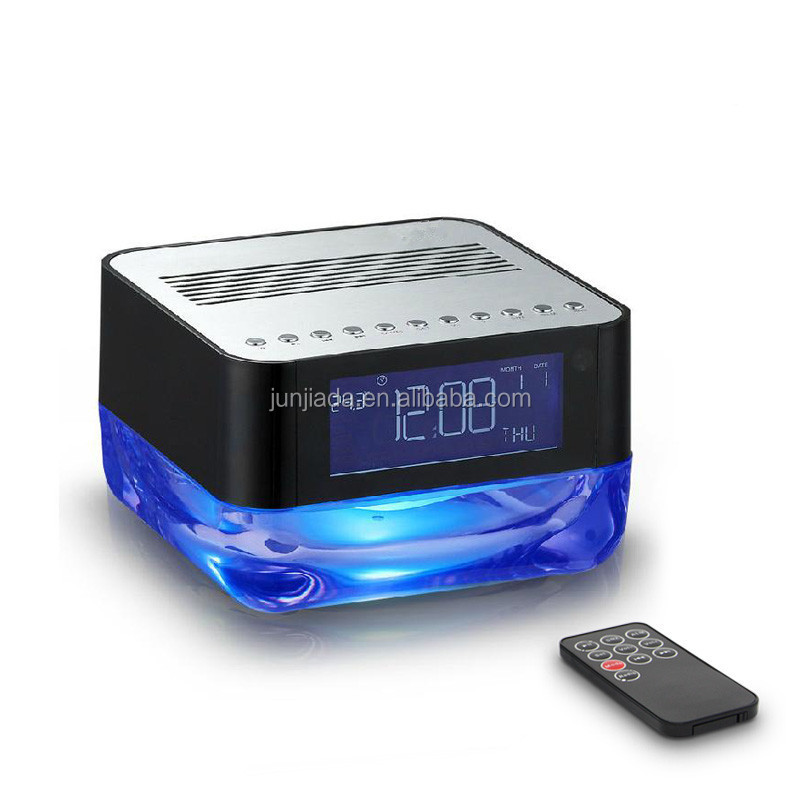 Bluetooth Speaker With Led Light /alarm Clock/fm Radio