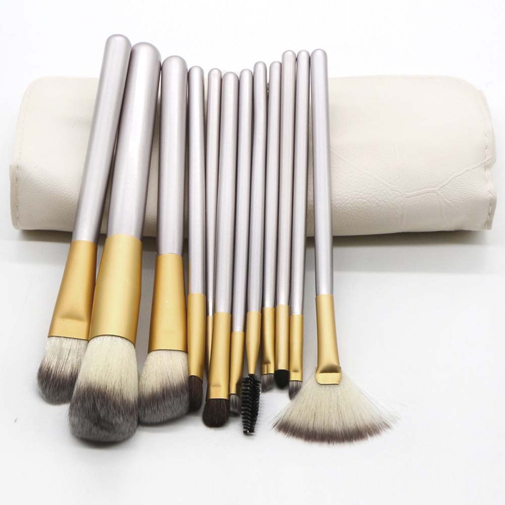 12Pcs/set Professional Makeup Brush Set pu bag package travel mini brush set make up brush kit