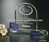 Wingate Goal-Setter Crystal Arch Trophy Award New Design