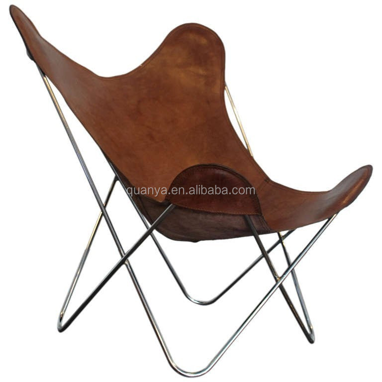 Moderne En Cuir Pliant Papillon Salon Chaise Chaise De Détente Pour