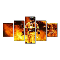Super Hero Wall Art Canvas Prints Art Home Decor for Living Room Modern Pictures 5 Panel Large HD Printed Painting