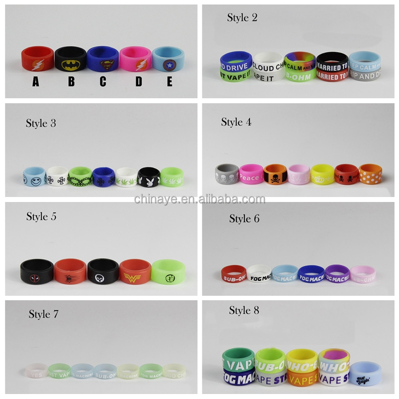 2017 high quality vape band silicone rings for electronic cigarette mechanical mods