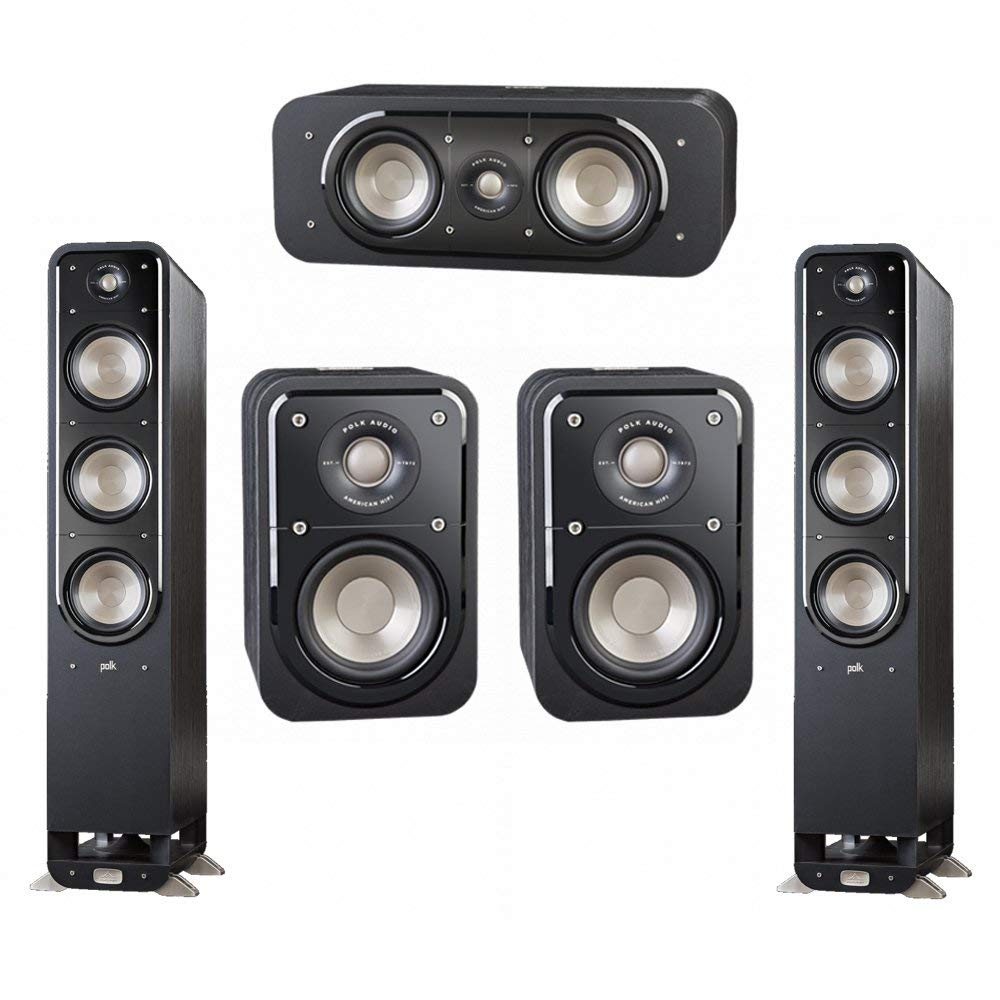 Polk Audio Signature 5.0 System with 2 S60 Tower Speaker, 1 Polk S30 Center Speaker, 2 Polk S10 Surround Speaker