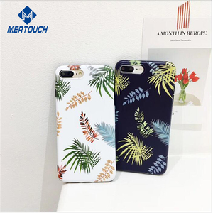 Summer Custom IMD Full Printing 3D Printed Palm Leaves mobile phone case for iphone 7