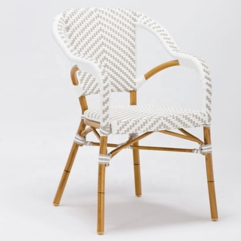 Hot Selling High Back Wicker Rattan Chairs Stackable Chair Kids