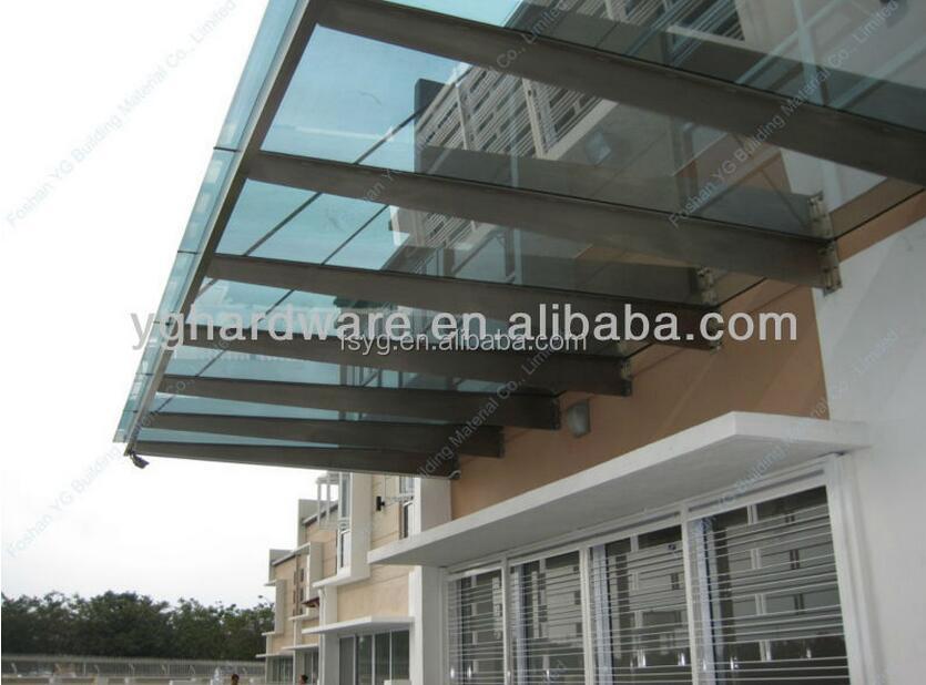 Glas luifel met roestvrij stalen frame luifel 13 garages luifels en carports product id - Luifel glas ...