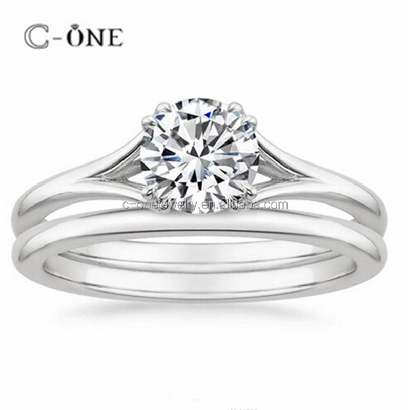 New arrived fancy 925 sterling silver couples finger white gold plated rings designs