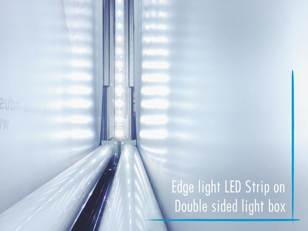 Floor Mount Aluminium With Edge Led Backlit Scrolling Light Box ...