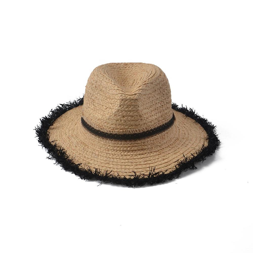 Stock Lala Straw Women Panama Hat With Fluffy