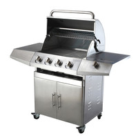 2018 hot sale outdoor stainless steel gas bbq grill for sale