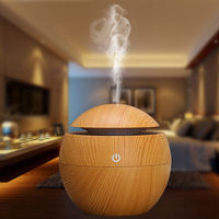 130ML USB Aroma Essential Oil Diffuser 7 Colors Led Light Ultrasonic Cool Mist Humidifier for Yoga Spa Office Home
