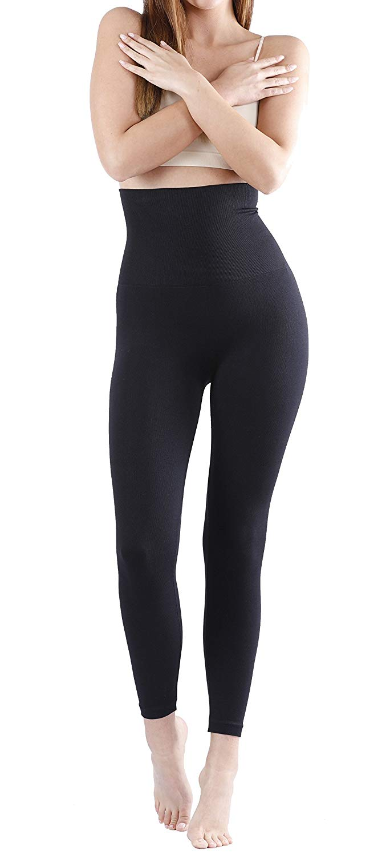 e24c5f168a46b Yenita® High Waist Slim Leggings Black, Tummy Control, Body Shaping