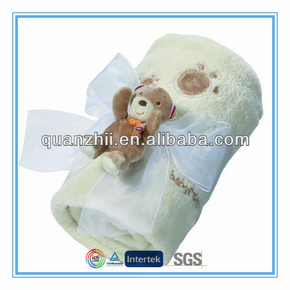 Cute plush teddy bear baby comfort blanket